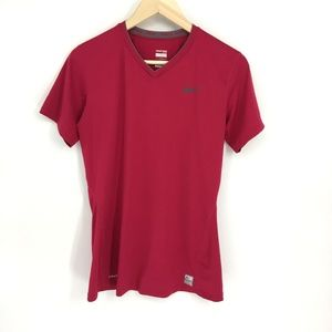 Nike Pro Fitted V Neck Short Sleeve Performace Top